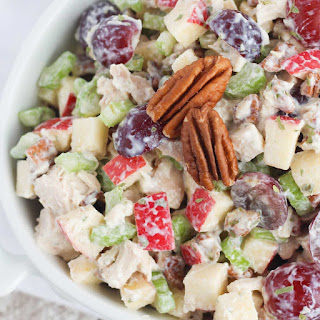 Healthy Chicken Salad with Grapes, Apples and Tarragon-Yogurt Dressing Recipe