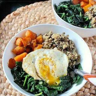 Quinoa and Lentil Power Bowl {gluten free, vegan option}