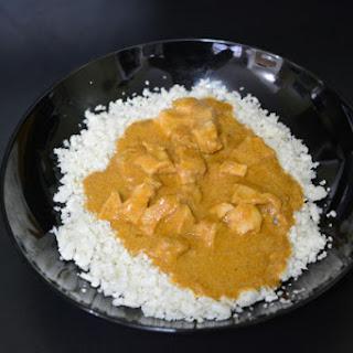 Curry Chicken with Riced Cauliflower
