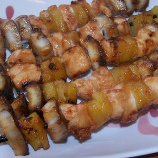 Chicken/Coconut/Pineapple Kabobs