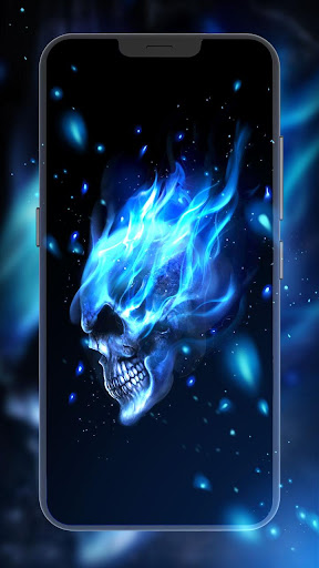 ... Screenshot for Flaming Skull Live Wallpaper in United States Play Store ...