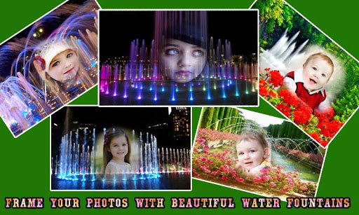 Water Fountain Frame Photo