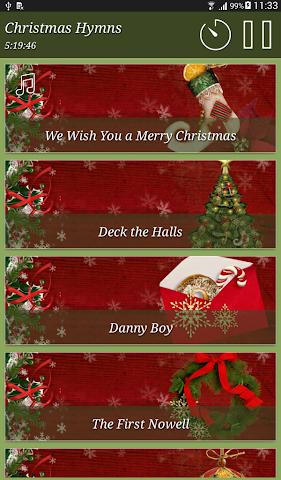 android Christmas Hymns Holiday Themes Screenshot 12
