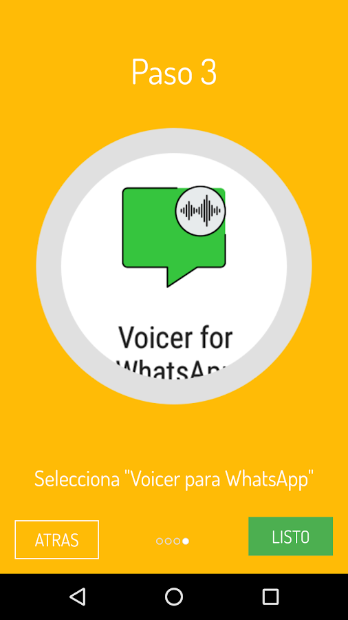 Voicer for WhatsApp: captura de pantalla