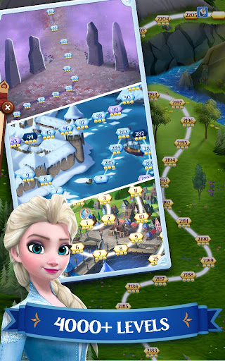 Disney Frozen Free Fall - Play Frozen Puzzle Games 9.5.1 Screenshots 3