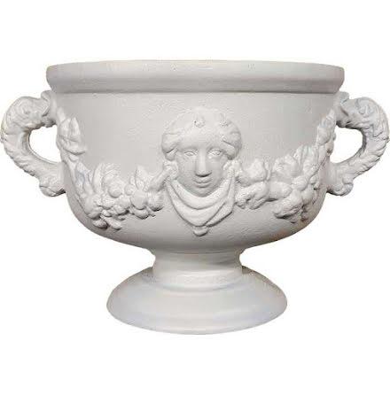 Stor Gustaviansk Urna Vit