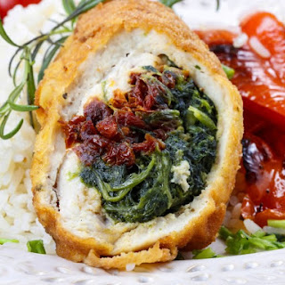 Slow Cooker Stuffed Chicken Breast with Feta, Spinach, and Tomatoes Recipe