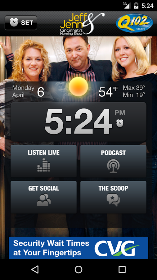 Jeff & Jenn Alarm Clock- screenshot