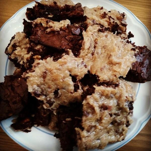 Triple Chocolate Walnut Brownies, Iris Recipe