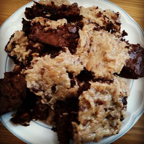 Triple Chocolate Walnut Brownies, Iris Recipe