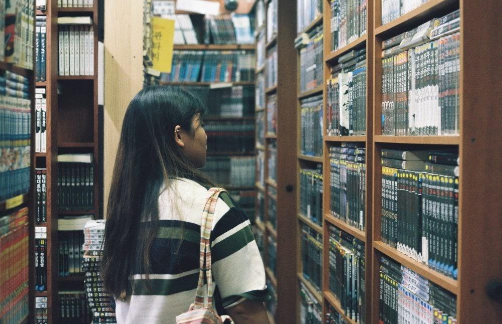 EI in comic book store, 2017
