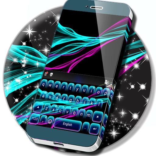 HD Neon Keyboard Theme