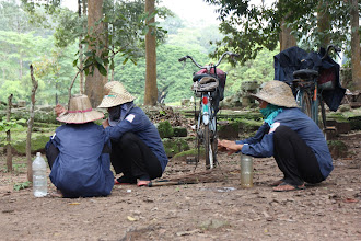 Photo: Year 2 Day 44 -   Some Ground Workers in the Archaeological Park