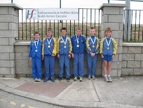 Photo: Moycarkey Borris Boys U/12 4 x 100m Relay team who came 4th in the National Community Games Finals pictured here with their Pewter medals.