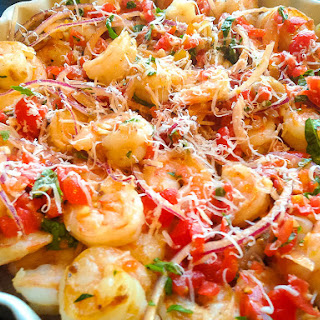Garlic Shrimp with Roasted Chestnuts