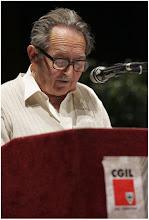 """Photo: Rino Battisti al teatro Sociale per la presentazione del libro """"Dentro le montagne"""" dedicato alla sua esperienza sindacale"""