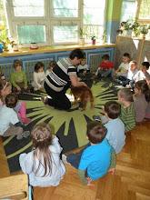 """Photo: warsztat """"Odpowiedzialny opiekun zwierząt"""" w grupie Zajączków"""