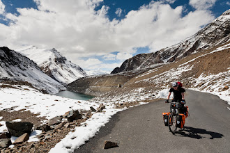 Photo: From our bicycle ride across the Himalayas. This is just below a high mountain pass, at approx 4900 meters above sea level (16 000 ft).
