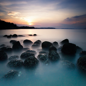 At the end of the day by Richard Amar - Landscapes Sunsets & Sunrises ( lee big stopper, punggol beach, sunset, long exposure, singapore )