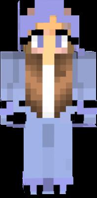 Das ist eine Nach mache von Isy_Cheesy's skin aber nur in Blau und in braunen haaren ich hoffe du siehst das Isy_Cheesy