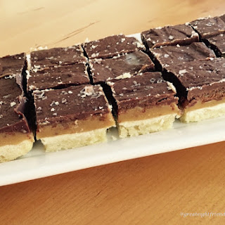 Caramel Chocolate Shortbread Bars.
