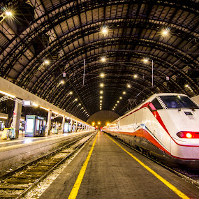 Milan Centre Train Station by Charles Ong - Transportation Trains