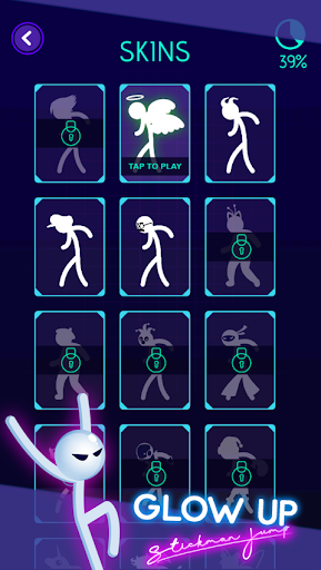 Glow Up: Stickman Jump - screenshot