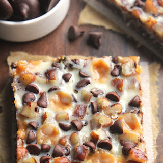 Skinny Chocolate Caramel Seven Layer Bars