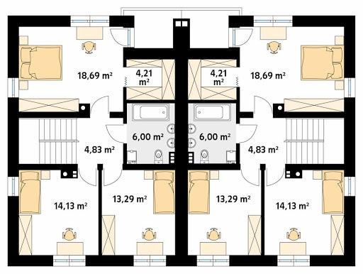 Purpurowy - Rzut piętra
