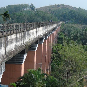 Long Bridge with suspended canal by Leelamohan Anantharaju - Buildings & Architecture Bridges & Suspended Structures