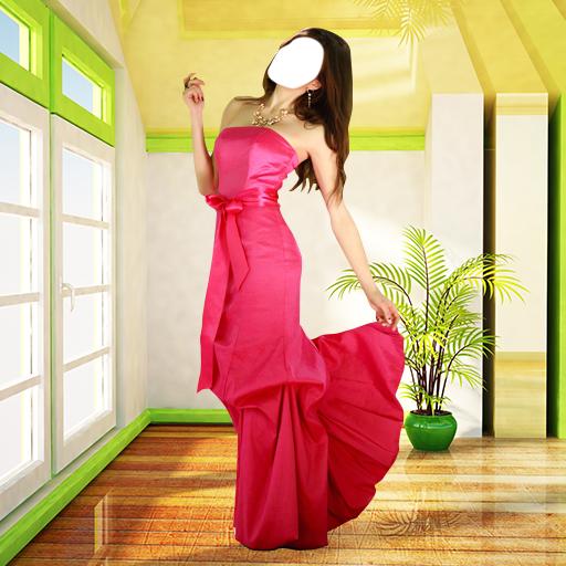 女子長禮服的照片蒙太奇 攝影 App LOGO-APP開箱王