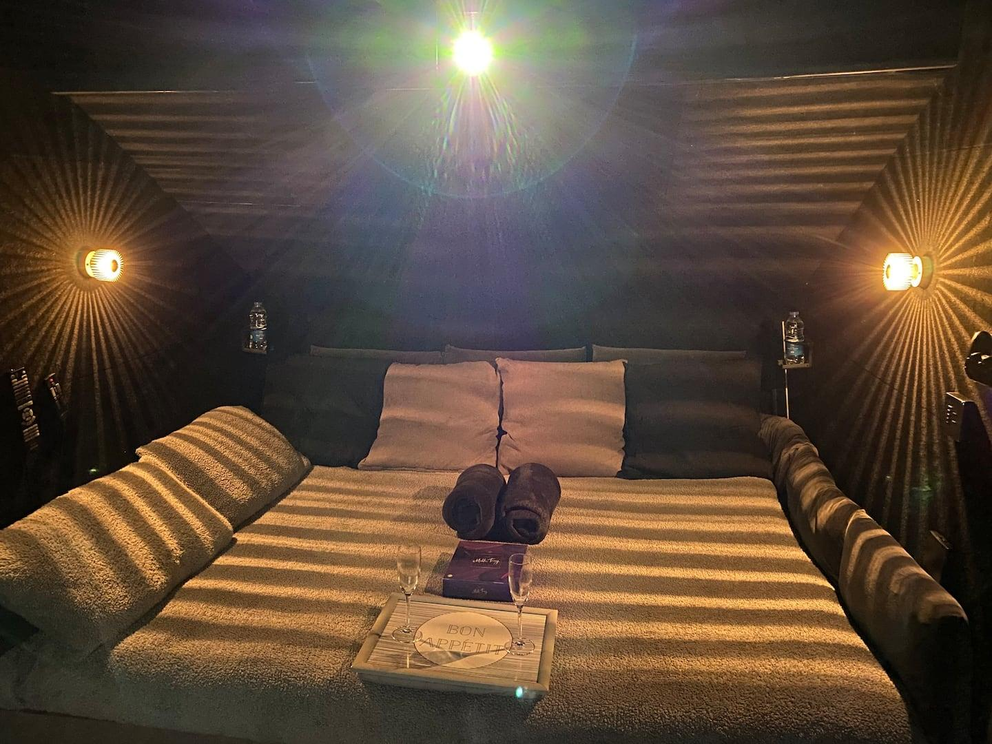 The Cosy Cinema: a private cinema sleepover just for you