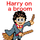 Harry on a broom - Wizardry School Potter (game)