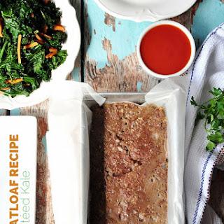 Classic Meatloaf Recipe With Sautéed Kale