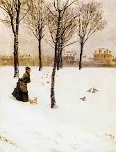 """Photo: Giuseppe De Nittis, """"Paesaggio invernale"""""""