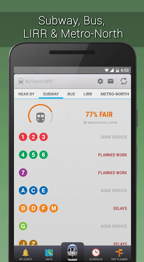 MyTransit NYC Subway, Bus, Rail Screenshot