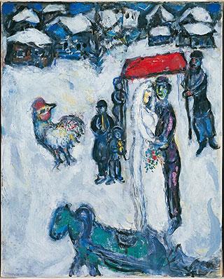 Марк Шагал. Свадебная пара зимой.