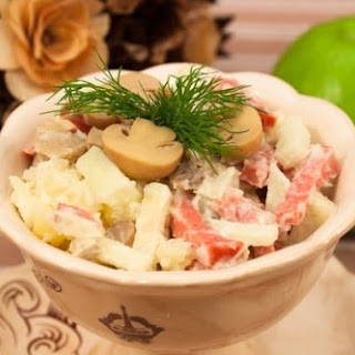 Smoked Sausage and Champignon Salad