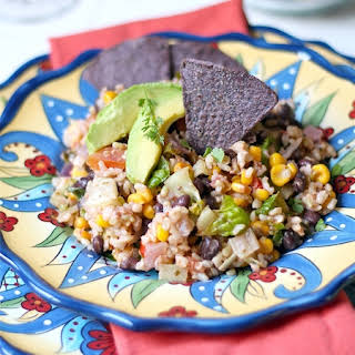 Healthy 10 Minute Vegetarian Taco Salad.