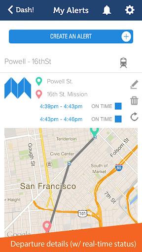 Dash - Transit Alerts
