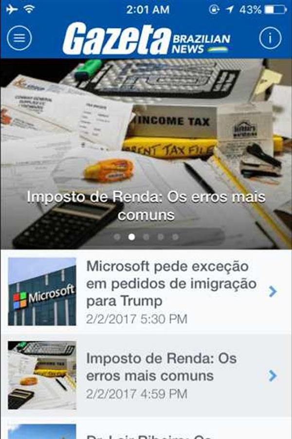 Gazeta News- screenshot