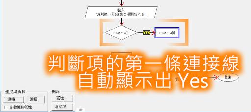 判斷式的第一條連接式自動顯示 Yes