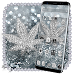 Silver Diamond Glitter Leaf Theme 1.1.4
