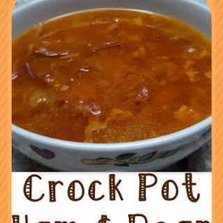 Crock Pot Leftover Ham & Bean Soup.