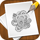 Learn to draw henna tattoos icon