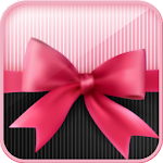 Pink bow knot bubble theme icon