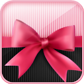 Pink bow knot bubble theme