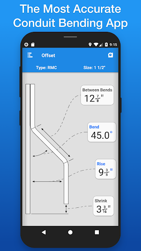 Screenshot for QuickBend: Conduit Bending in United States Play Store