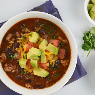 Turkey Chili with All The Fixins