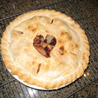 Brandied Apple and Cranberry Pie